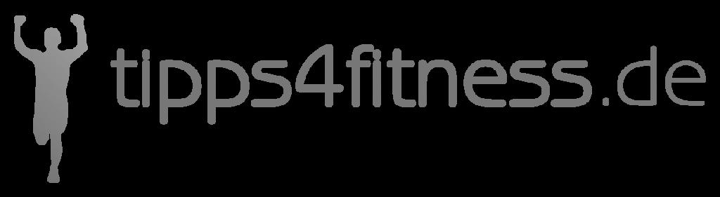Logo tipps4fitness.de grau ohne Slogan